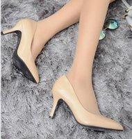 neue frühlings-high heels großhandel-New Style 2017 Frauen Frühlingsmode lackleder High heels Rote farbe Hochzeit Schuhe Sexy spitzen high heels