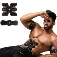 Wholesale electronic muscle belt for sale - Group buy Rechargeable Battery Gym Electronic Body Muscle Arm Waist Abdominal Exerciser Muscle Massaging Machine Viberating Slim Belt