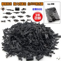 Wholesale Toy City Buildings - WholeSale 400pcs Military Series Guns Weapons SWAT CITY Police Army Minifigures Assemble Building Blocks Kids Learning Toys Gifts