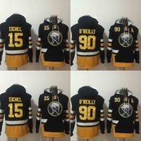 Wholesale Men Winter Jack - 2017 Mens Hoodies Hockey Jersey Buffalo Sabres 15 Jack Eichel 90 Ryan O'Reilly 100% Stitched Sweatshirts Winter Jacket Free Shipping