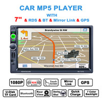 Universal 7 Inch 2 Din Bluetooth Auto Multimédia Lecteur Stéréo MP5 GPS Navigation AM FM RDS Radio Monitor CMO_223