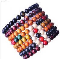Wholesale 8mm Round Wood Beads - 8mm Beads Manufacturer Wholesale Bracelet Buddha's Words Sandalwood Round Bead Bracelet