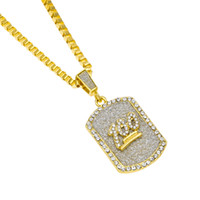 Wholesale Iron Man Jewelry - 3mm Chain Gold Plated Hip-Hop Iron Alloy 100 Jesus Rhinestone Military Pendant Women Men Necklace Black People Jewelry