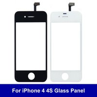 Wholesale Iphone 4s Front Panel Glass - AAA+++ Quality Front Glass Lens Touch Screen Digitizer For iPhone 4 4S Outer Glass Panel Sensor Replacement Part Free Shipping Tracking Numb