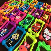 Wholesale Superman 3d Silicone Case - 3D Cartoon Character Soft Silicone Bumper Fram Universal Case Superman Mickey Batman For Iphone 7 6s 6 Plus 5S 3.5 To 5.5 All Cellphone Case