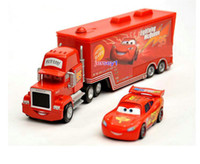 Wholesale Cheap Toy Model Cars - Cars 2 Pixar Car Kids Toy McQueen Cars Truck Set 1:55 Diecast Alloy Car Model For Children Gift Wholesale Cheap DHL Fast