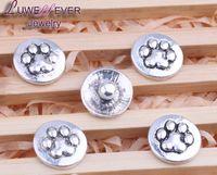 Wholesale Black Metal Earring Hooks - Hot sale Flower 09 12mm Snap Jewelry Rhinestone Metal Snap Buttons Fit 12mm Snap bracelets Earrings necklace For women