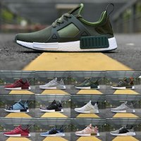 Flat spring table linens - 2017 Originals NMD XR1 Primeknit boost Mens running shoes Duck Camo Core Black Linen Olive NMD XR1 Runner sneakers casual shoes US