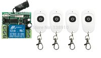 Wholesale Mini Remote Receiver Transmitter - Wholesale- DC12V RF Wireless Mini Switch teleswitch Relay Receiver Remote Controllers For Light switch With White Waterproof Transmitter