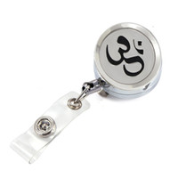 Wholesale Names Perfumes - Hot Selling Yoga Perfume Locket Metal Retractable Badge Reel Key 30MM ID Card Clip Ring Lanyard Name Tag Card Holder Free Pads