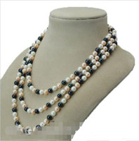 Wholesale Multicolor Cultured Pearl Necklace - Long AA 8-9mm multicolor freshwater Cultured Pearl Necklace 50""