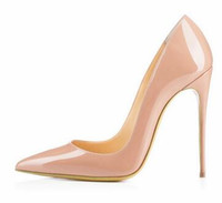 Wholesale High Heels Shoes Red Sole - Brand Shoes red sole Woman High Heels Pumps Red High Heels 12CM Women Shoes High Heels Wedding Shoes Pumps Black Nude (no box)
