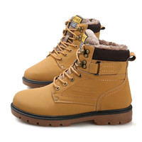 Wholesale Cow Mountain - Autumn and winter new outdoor large size male cotton boots   casual pedal mountain big shoes   Martin boots