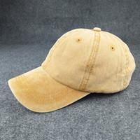 Wholesale Washing Ball Wholesale - Wholesale- Men Baseball Caps Women Snapback Caps Hats For Men Casquette Plain Bone Gorras Cotton Washed Blank Baseball Caps Sun Dad Hat
