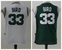 cdfe122aa Basketball Boys Sleeveless Boys 33 Larry Bird Jersey Green White Youth  33  Larry Bird Child