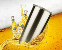 Wholesale Large Beer Glass Wholesale - Bilayer Stainless Steel Insulation Cup 20 OZ ye TI Cups Cars Beer Mug Large Capacity Mug Tumblerful