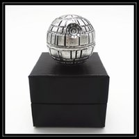 Wholesale Death Stars - Classical Death Star Grinders 3 Layer Parts 53mm Diametre Zinc Alloy Metal Grinder Ball Shaped 3pc Pokeball Style Grinders