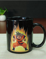 Wholesale Stainless Steel Ceramic Coffee Mugs - NEW style Free Shipping Dragon Ball Z Son Goku Vegeta one piece Ceramic Heat Reactive Color Change Coffee Mug Cup Birthday gift