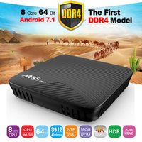 Android 7.1 TV Box 4K M8S Pro m8spro octa core S912 5GHz double wifi DDR4 2 Go / 3 Go + 16 Go Smart Set Top Boxes VS récepteurs satellite