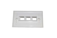 Wholesale Wholesale Network Jacks - 5 Piece Lot of 3 Ports Network Faceplate 120 Type American Type Wall plate for keystone jack
