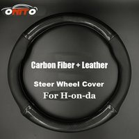 Wholesale Cities Auto - Auto Accessories 380MM car Steer Wheel Cover Carbon Fiber&Leather steering wheel casing for CRV Civic Accord CITY Fit Pilot Crossroad