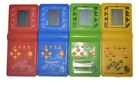 Wholesale New Retro Classic Childhood Tetris Handheld Game Players LCD Electronic Games Toys Game Console Riddle Educational Toys