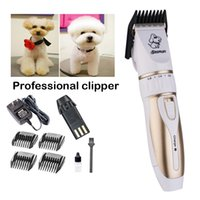 Baorun Chien Cordless Kit Toilettage Clippers Titanium + lame en céramique Sharp faible bruit Pet Grooming Clippers Cat Dog DIY cheveux Trimmers C29L