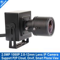Wholesale Mini Lens Varifocal - 2.0MP 25fps HD 1080P Super Mini IP Camera 2.8-12mm Manual Varifocal Zoom Lens ONVIF P2P Plug&Play With Bracket PC&Moblie View