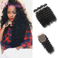 Wholesale Virgin Hair Brazilian Vendor - Wholesale Factory Direct Outlet For Vendors Deep Wave Virgin Hair With Lace Closure Brazilian Human Hair Weave Bundles With Lace Closure