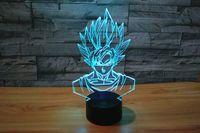 Wholesale acrylic dragon balls resale online - Creative Anime Dragon Ball Son Goku Kakarotto Night Light lamp D LED Night Light Acrylic Colorful Gradient Atmosphere Lighting