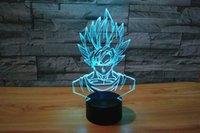 kakarotto drachen ball großhandel-Kreative anime dragon ball sohn goku kakarotto nachtlicht lampe 3d led nachtlicht acryl bunten gradienten atmosphäre beleuchtung