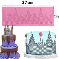 Wholesale Mat Lace - Tiara Shaped Silicone Fondant Lace Mould Cake Sugarcraft Mat Mold DIY Cake Decorating Tools