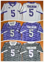 Wholesale Jersey Shorts For Men Football - TCU Horned Frogs Mens Football Jerseys American College 5 LaDainian Tomlinson Men For Sport Jersey Size S-XXL