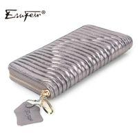 Wholesale Multiple Wallet - Wholesale- ESUFEIR Genuine Leather Women Wallet High Quality Sheepskin Standard Wallet Long Clutch Fashion Multiple Cards Holder Wallet Bag
