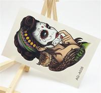 Wholesale tattoo girls sexy - Wholesale- 10X15.5cm Sexy Waist Tattoos Waterproof Temporary Arm Tattoos 3d Flash Henna Tattoo sticker For Girls And Man AQ-A038