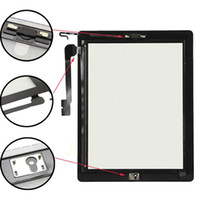 Wholesale Ipad4 Touch - For iPad 4 Touch Screen Digitizer Glass for iPad4 A1458 A1459 A1460 Touch Panel Black White Color + 3M Adhesive + home button
