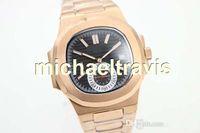 Wholesale Mens Golden Wrist Watches - Luxury Brand Black Dial Golden Stainless Belt Watches Golden Populer Stainless Pointer Watch Mens Fashion Wrist Watches