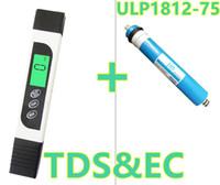 Wholesale ro water filter membrane - TDS EC PPM Water Quality Meter Tester + ULP1812-75 75gpd RO Membrane Element Water Filter Cartridge NSF Reverse Osmosis System