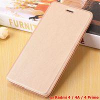 Wholesale Cheap Flip Phones Cases - Redmi 4A Case High Quality Flip Leather Case for Xiaomi Redmi 4 Prime 4A Mobile Phone Pouch Cover Coque Skin Cheap Case Bag