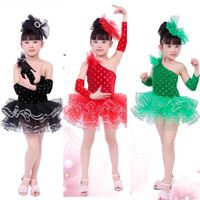Wholesale Gymnastic Tutus - Black Swan Costume Kids Long Sleeve Ballet Tutu Leotard Dance Wear Stage Dance Leotard For Girl Pink Gymnastics Leotard Children