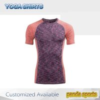 Wholesale Running Exercises - Women Yoga Running Outdoor Sport Elastic Exercise High Waist wear Gym Fitness Slim shirts
