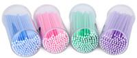 mujeres herramienta al por mayor-Hot 100pcs durable micro desechable extensión de pestañas etiqueta privada aplicadores individuales cepillo de rímel para mujeres herramientas de belleza