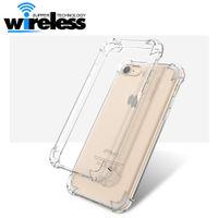 Wholesale Apple Iphone Broken - 2017 Transparent Anti Break Shock Proof Drop Resistant Case for iPhone 6 6s 6 7 plus samsung s7 edge s8 s8 plus Flexible TUP Skin Back Cover