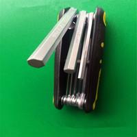 Wholesale Allen Key Wrench - 8Pcs Fold Up Hexagon Key Set Hex Allen Wrench Driver Metric Tool