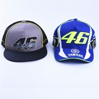 Wholesale 3d Hat Letters - GP motorcycle hats caps Motorcycle 3D YAMAHA Embroidered F1 Racing Cap Men Women Snapback Caps Rossi VR46 Baseball Hat Racing Y-M-H