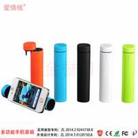 Wholesale Audio Power Line - Love Line Power Bank Mini Speaker Phone Holder Gift Box Charging Treasure Mini Speaker Mobile Power Audio Support Gift Customiz