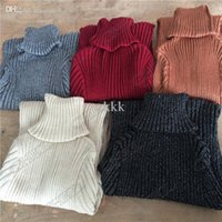 Wholesale Ladies Knee Length Sweaters - Wholesale-Warm Winter Classic Fashion Lady Women Turtleneck Sweater Long Sleeve Dress Liangsi Knitwear