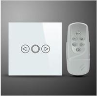 беспроводной пульт дистанционного управления диммер переключатель оптовых-Wholesale-EU Standard Wireless Remote Control Dimmer Light Switch With 1 Gang Touch Panel 220V wireless blue LED backlight