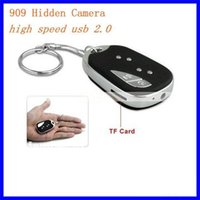 Wholesale micro keychain camera online - 909 Car Key camera MINI Keychain Camera Mini Audio Voice Video Recorder Keychain DVR Micro Camera with retail box