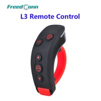 Wholesale Remote Control T Rex - Wholesale- FreedConn L3 PTT Handbar BT Remote Control Bluetooth Motorcycle Bike Helmet Intercom Headset For L1, L2, COLO-RC, T-REX